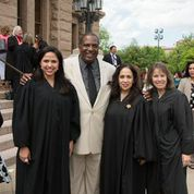 Senator West with Justices Barnard, Martinez and Chapa Of 4th COA
