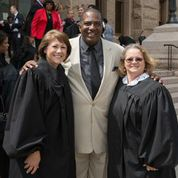 Senator West with Two Judges on Texas Female Judges' Day 2015