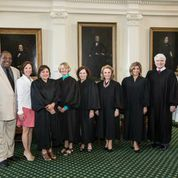 Senators West & Huffman with Texas Female Judges on Senate Floor 2015