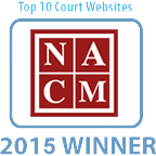 NACM Top 10 Court Websites of 2015 badge